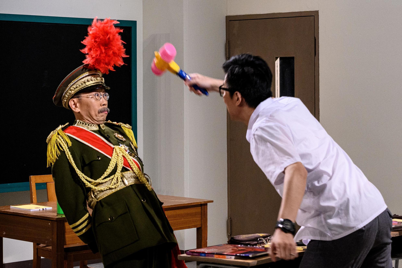 Une scène de l'émission «Headliner» tournée dans un studio à Hong Kong, le 17 juin 2020.
