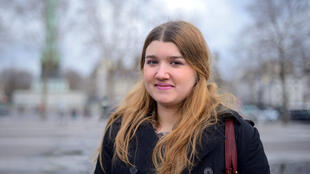 Anja, de 18 años, viene de Serbia.
