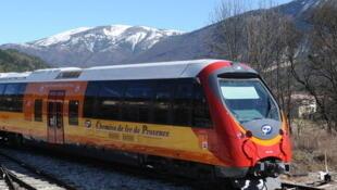 Поезд на линии Ницца - Динь-ле-Бен