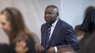 Cựu tổng thống Côte d'Ivoire Laurent Gbagbo tại Tòa án Hình sự Quốc tế, La Haye, Hà Lan, ngày 15/01/2019