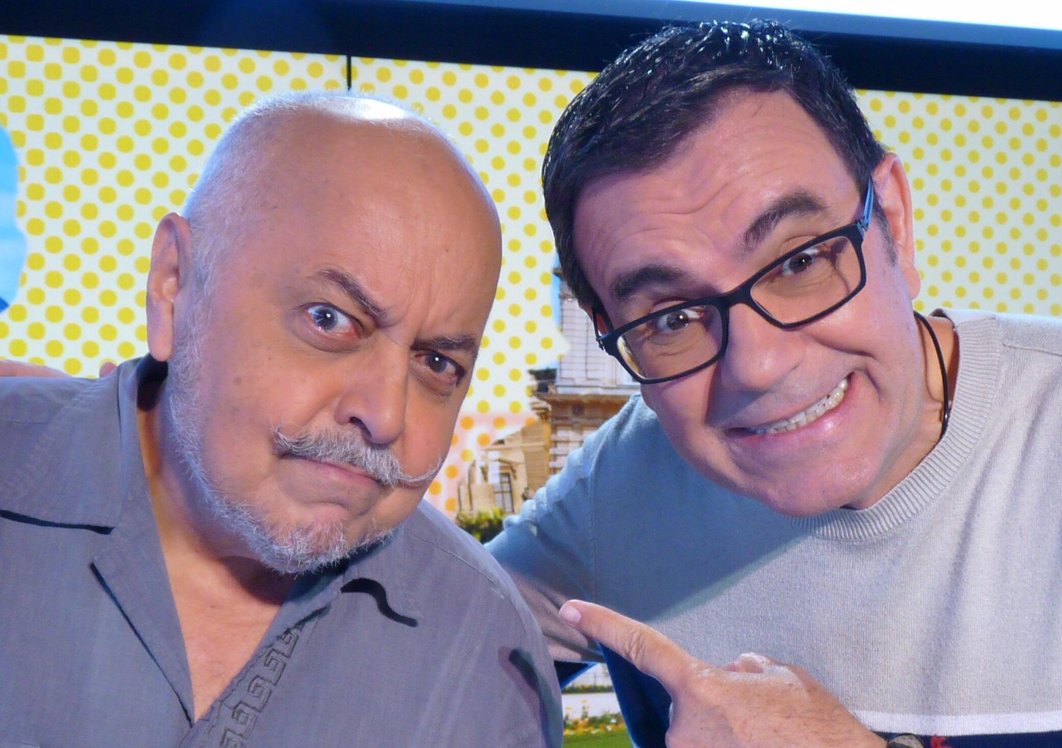 Laureano Márquez y Claudio Nazoa en los estudios de RFI