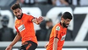 Les joueurs de Berkane (orange) le 28 avril 2019 face à Sfax. (illustration).