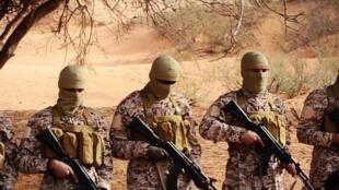 Photo extraite de la vidéo de propagande du groupe Etat islamique rendue publique le 19 avril 2015.