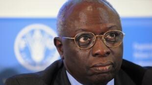 Le diplomate Jacques Diouf à Rome en juin 2009 lorsqu'il était encore directeur de la FAO.