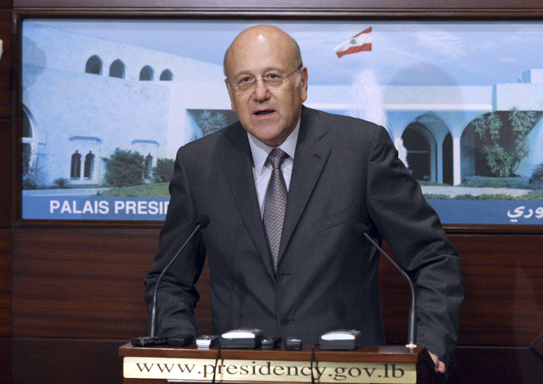 O primeiro-ministro do Líbano, Najib Mikati, anunciou a formação de um novo gabinete