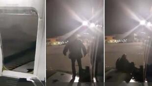 O passageiro, asmático, não conseguiu esperar os procedimentos de desembarque, que já duravam meia hora, e se sentou na asa do avião.