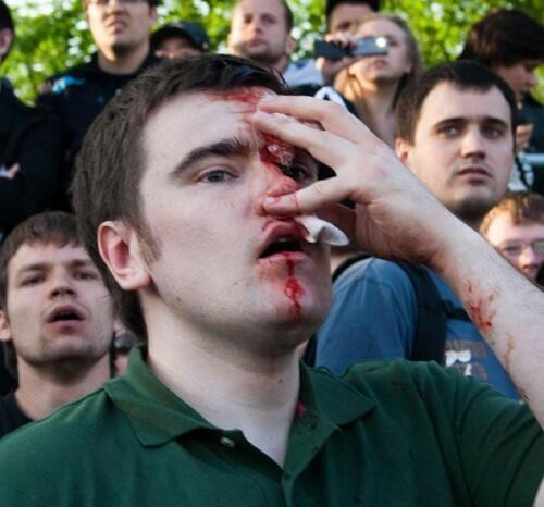 Алексей Гаскаров на митинге 6 мая 2012 г.