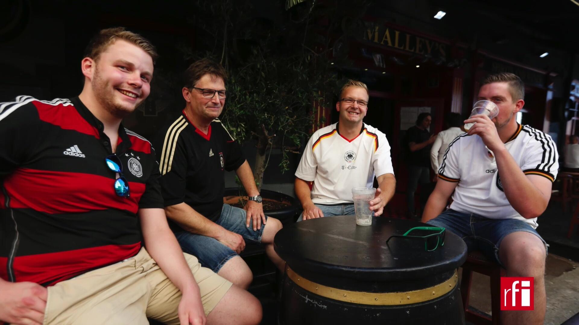 Des supporters allemands à Marseille.