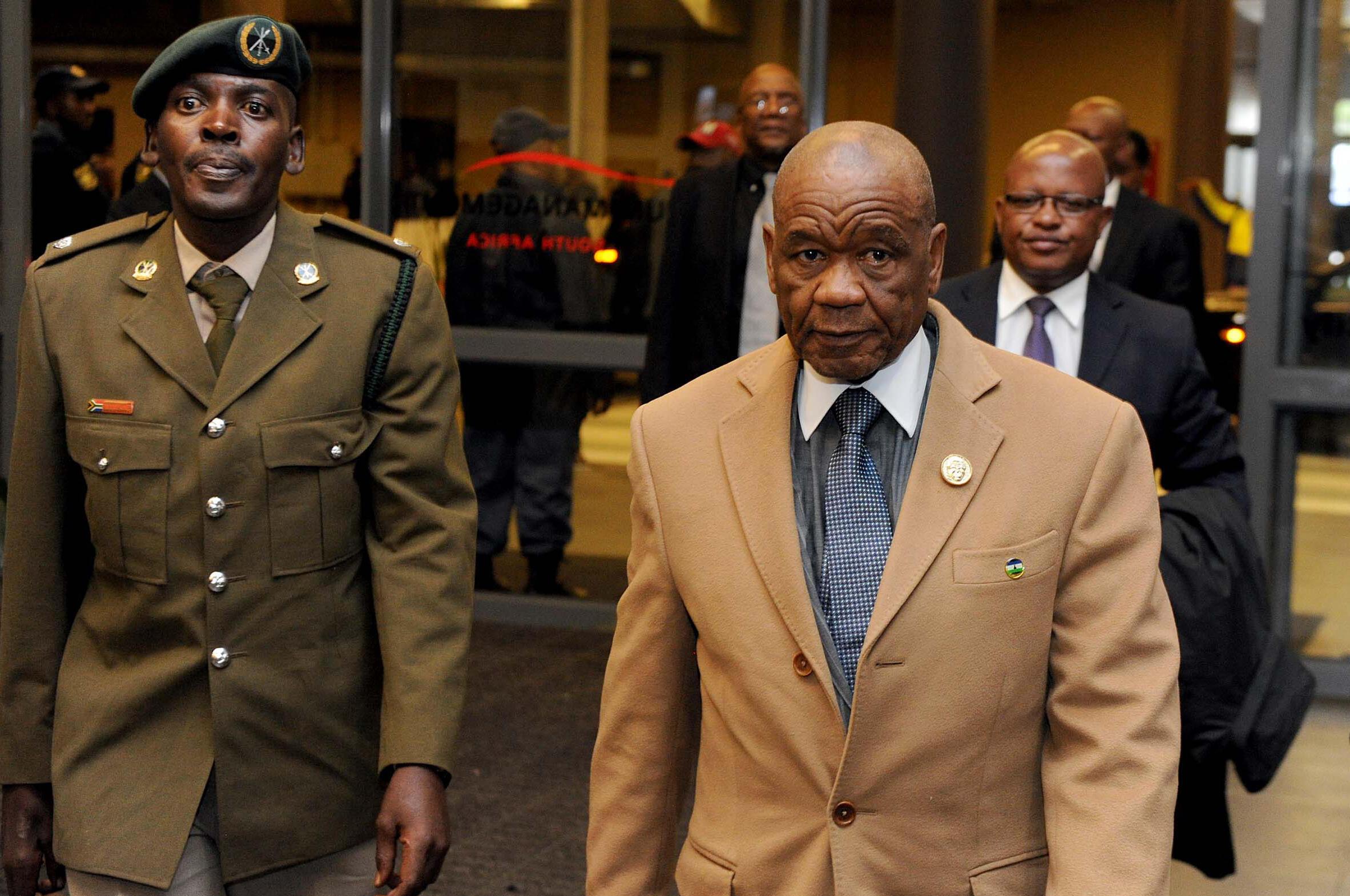 Firaministan Lesotho, Tom Thabane, a wata ziyara da ya kai a birnin  Johannesbourg, a kasar Afrika ta kudu