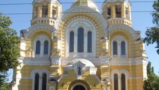 La cathédrale Saint-Volodymyr, siège du patriarcat de Kiev.