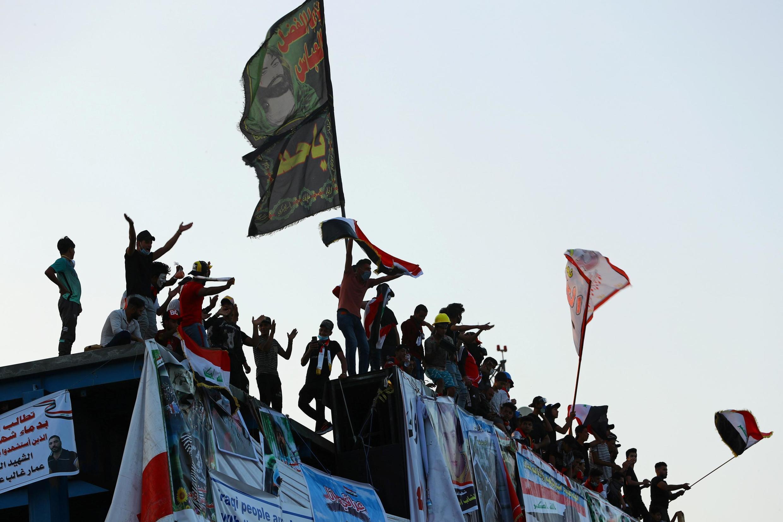 Les manifestants à Bagdad, mercredi 6 novembre 2019.