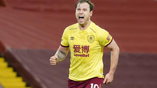 Burnley striker Ashley Barnes scored his 100th goal in his side's 1-0 victory at Anfield.