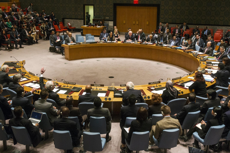 A l'ONU, le 14 avril 2015.