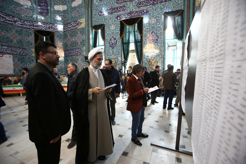 Một phòng bỏ phiếu bầu Quốc Hội Iran ở thủ đô Teheran ngày 21/02/2020.