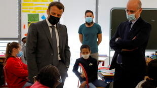 2021-04-26 HEALTH-CORONAVIRUS-FRANCE-EDUCATION-MACRON