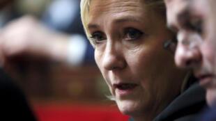 Marine Le Pen à l'Assemblée nationale, à Paris, le 20 février 2018.