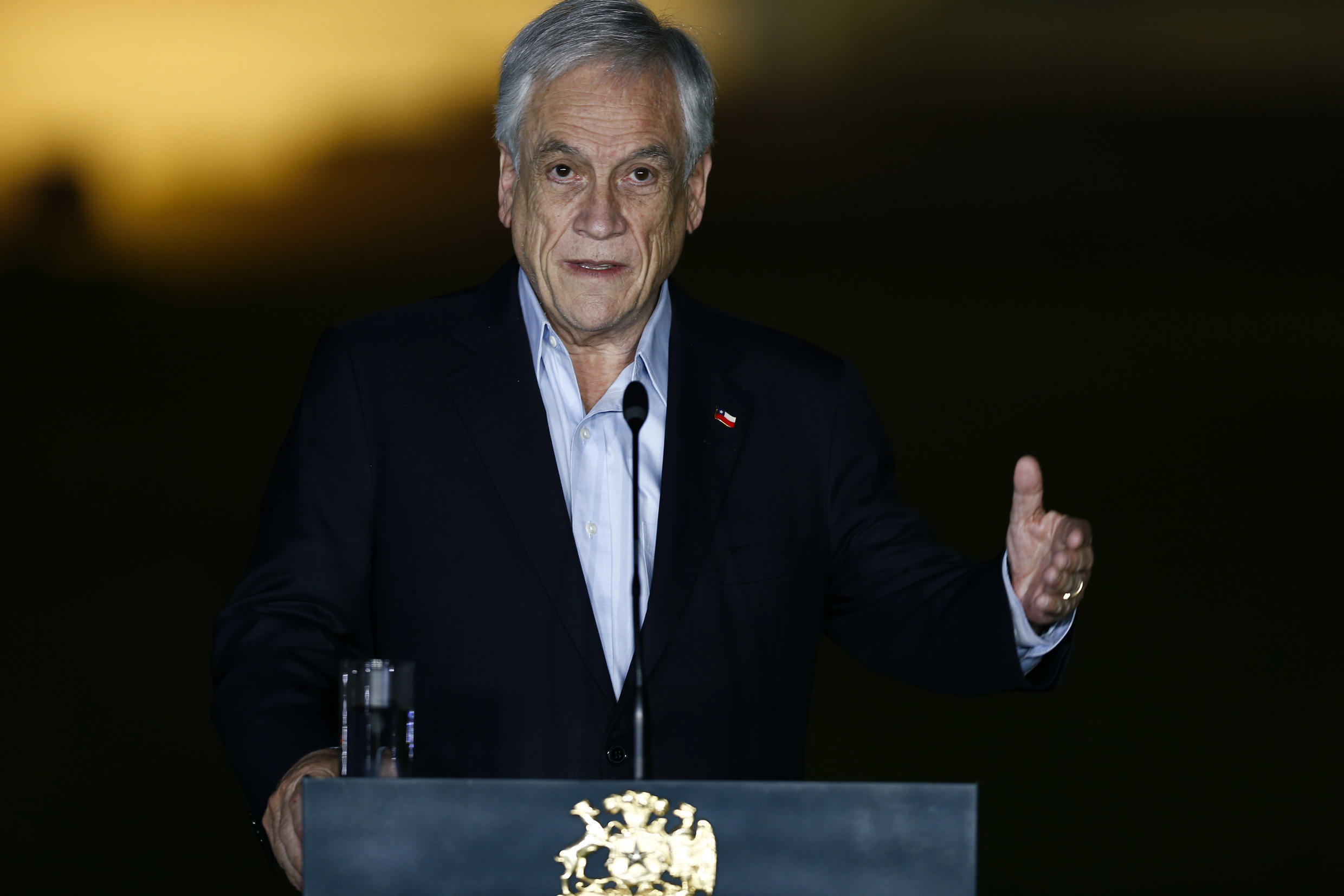"""Chilean President Sebastian Pinera, seen in 2020, has encouraged countries to work together to legislate on """"neuro-rights"""""""