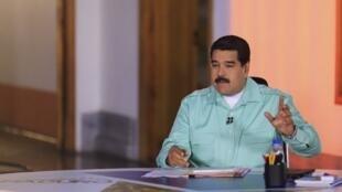 El presidente venezolano Nicolas Maduro, abril de 2015.