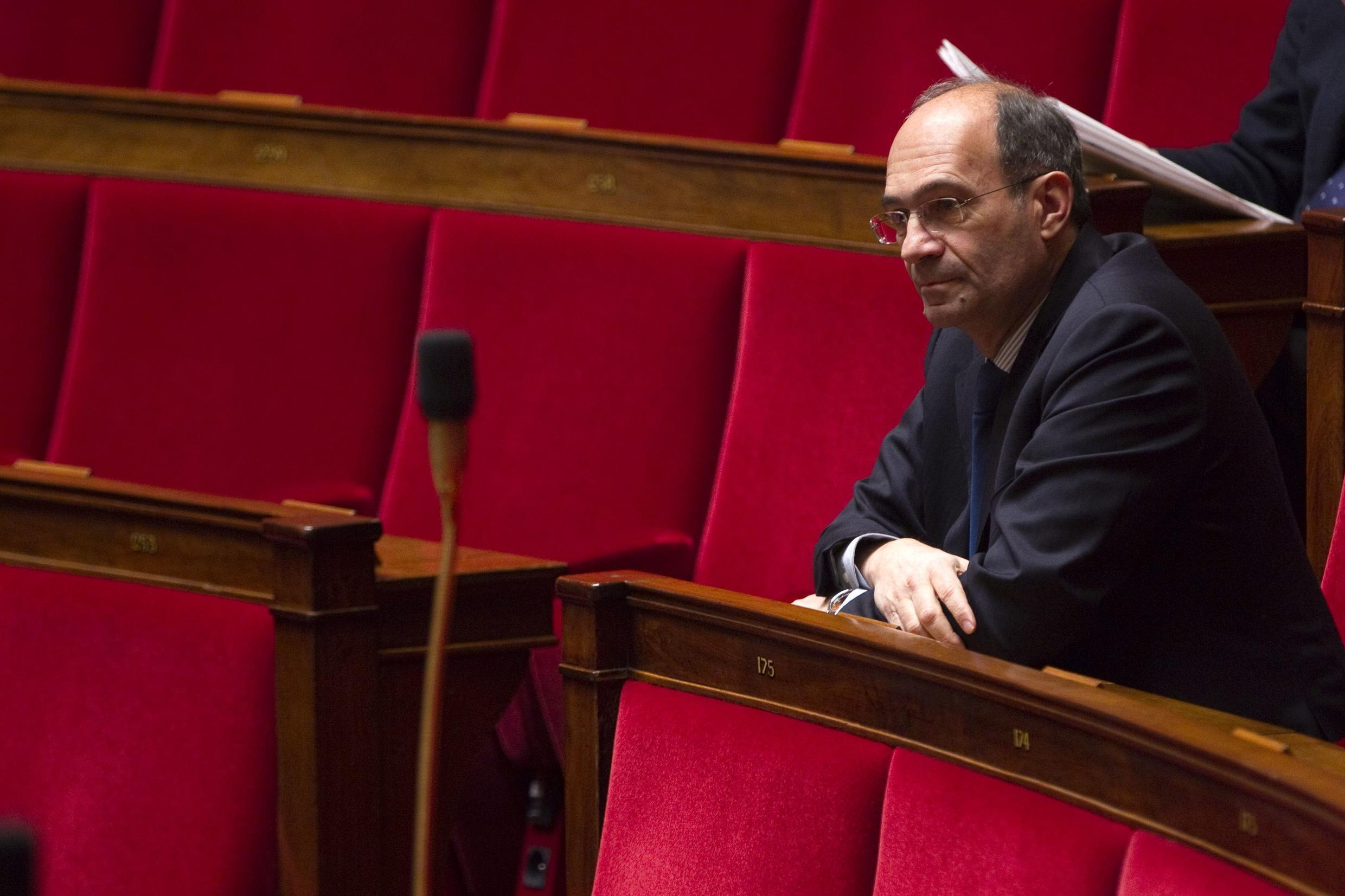 Eric Woerth at the National Assembly in Paris on 7 February 2012