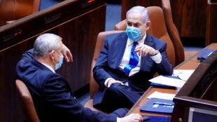 بنیامین نتانیاهو و بنی گانتز