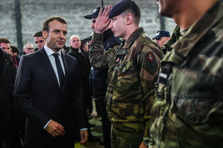 Tổng thống Pháp Emmanuel Macron tại Calais, bắc Pháp, ngày 16/01/ 2018.