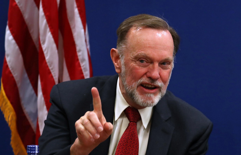 Le secrétaire d'État américain adjoint aux Affaires africaines, Tibor Nagy à Addis Abeba le 14 juin 2019.