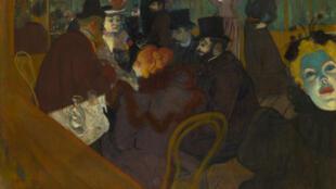 «Au Moulin Rouge», oeuvre de Toulouse-Lautrec exposée au musée d'Orsay dans le cadre de l'exposition «Splendeurs et misères, images de la prostitution»