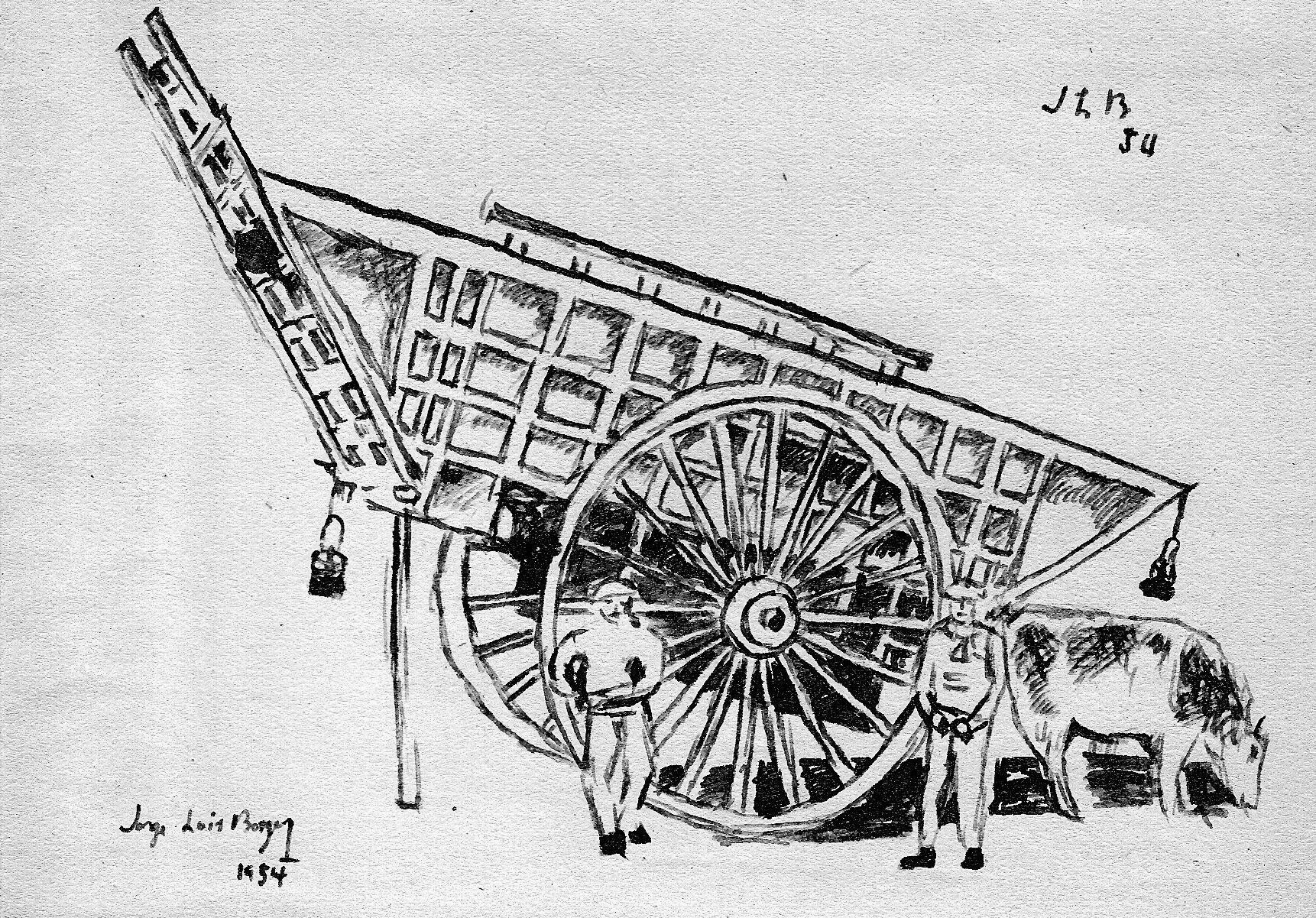 Dibujo de Jorge Luis Borges.