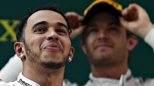 Lewis Hamilton (foreground) and Nico Rosberg are the top contenders for Sunday's British Grand Prix.