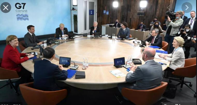 G7首脑峰会2021年6月11日英国卡比斯湾