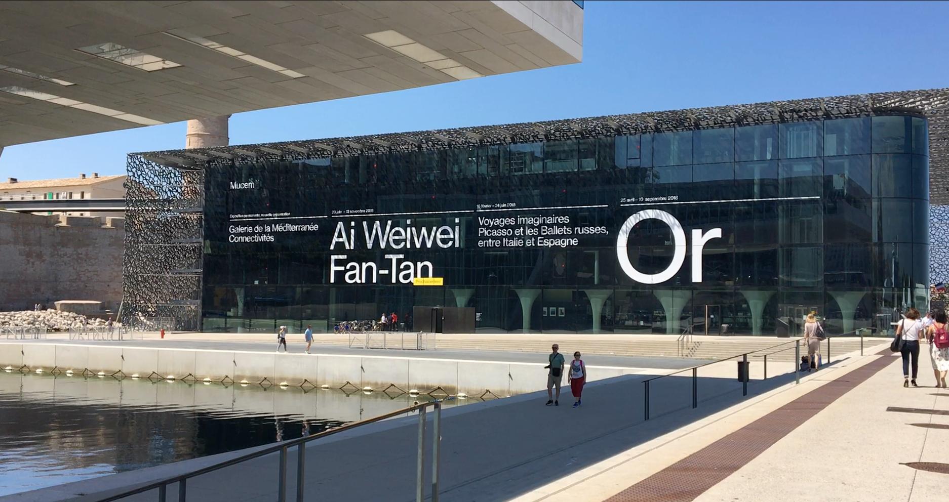 """2018年6月12日至11月12日,马赛欧洲地中海文明博物馆举办大型艾未未作品展""""番摊""""。"""