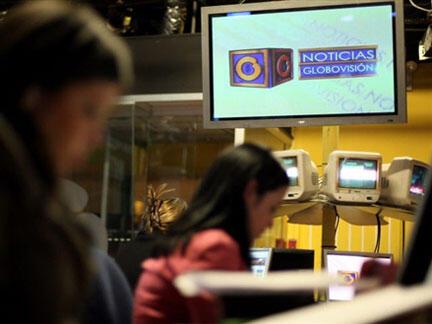 Los locales de la televisora privada Globovision.