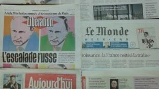 Jornais franceses do dia 2 de Outubro de 2015