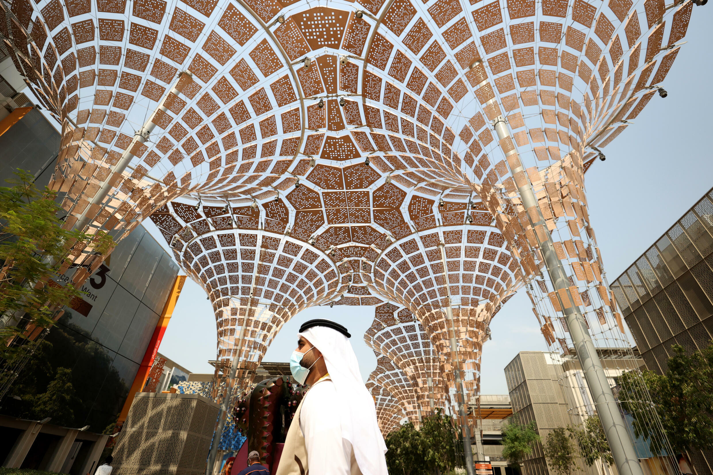 More than 200,000 workers built the huge Dubai Expo 2020 site