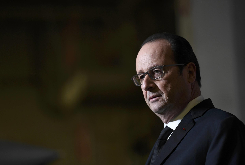François Hollande atakuwa nchini Iraq ambapo Ufaransa iliungana na mataifa mengine katika mapambano dhidi ya kundi la Islamic Satte, Jumatatu, Januari 2, 2016.