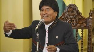 Le président Evo Morales au palais présidentiel de La Paz, le 30 mars 2015.