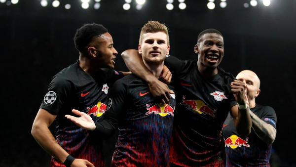 Timo Werner et les joueurs du RB Leipzig ont battu Tottenham à Londres en Ligue des champions (1-0), le 19 février 2020.