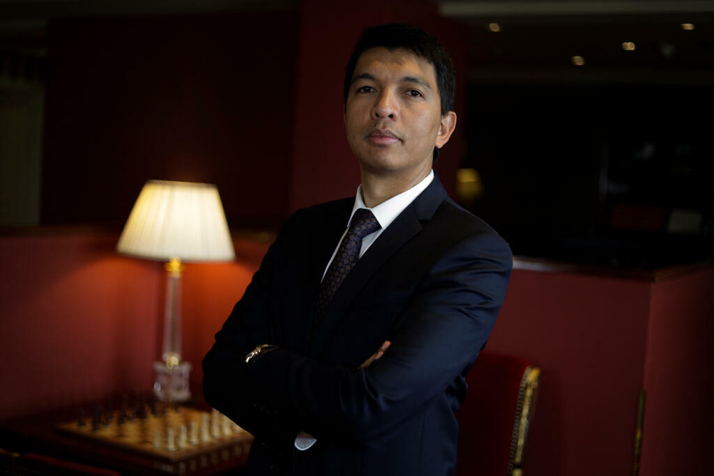 Andry Rajoelina, le 1er février 2018, à Paris, en France.