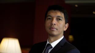 L'ex-président malgache, Andry Rajoelina, le 1er février 2018, à Paris, en France.
