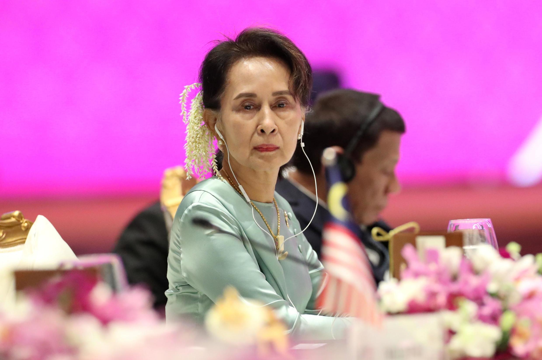 Lãnh đạo Miến Điện Aung San Suu Kyi tại Hội nghị Thượng đỉnh ASEAN ở Bangkok, Thái Lan. Ảnh 04/11/2019.