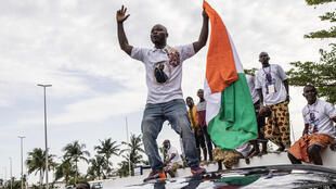 Supporter de Laurent Gbagob passage cortège
