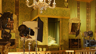 A genuine 17th century royal bedroom at Vaux le Vicomte Palace near Paris used as a film set