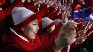 Jeux Olympiques d'Hiver, Pyeongchang 2018. Cérémonie d'ouverture, le 9 février 2018.