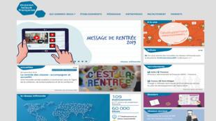 La page d'accueil du site Mission laïque française