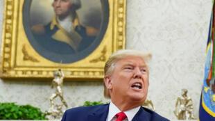 Donald Trump na Casa Branca em dezembro de 2019.