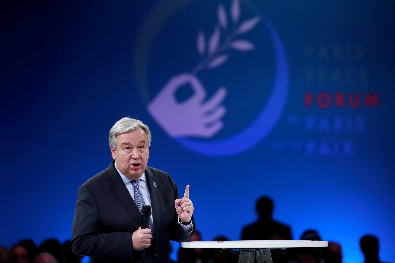 Генсек ООН Антониу Гуттериш на парижском Форуме мира, 2019 год