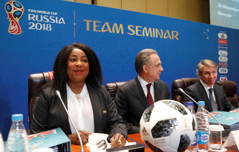 FIFA họp báo tại Matxcơva trước lễ bốc thăm Cúp Bóng Đá Thế Giới 2017.