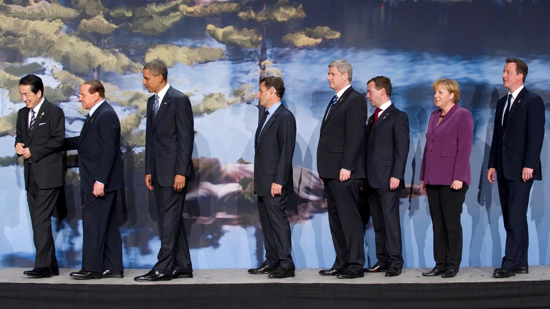 """Руководители стран """"Восьмерки"""" в Хантсвилле."""