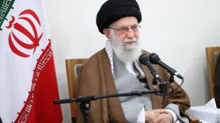 Le guide suprême iranien, l'ayatollah Ali Khamenei, à Téhéran, ici le 15 janvier 2020. Ali Khamenei a décidé de diriger la prière du vendredi.