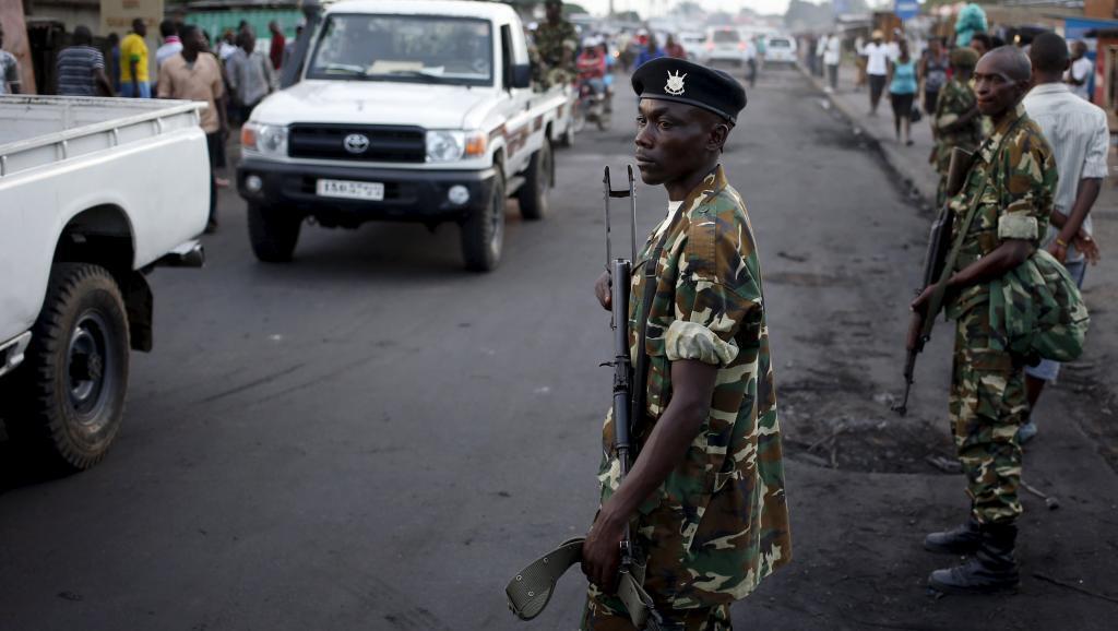 Wanajeshi wa Burundi wakiwa katika moja ya mitaa ya Bujumbura (picha ya kumbukumbu).